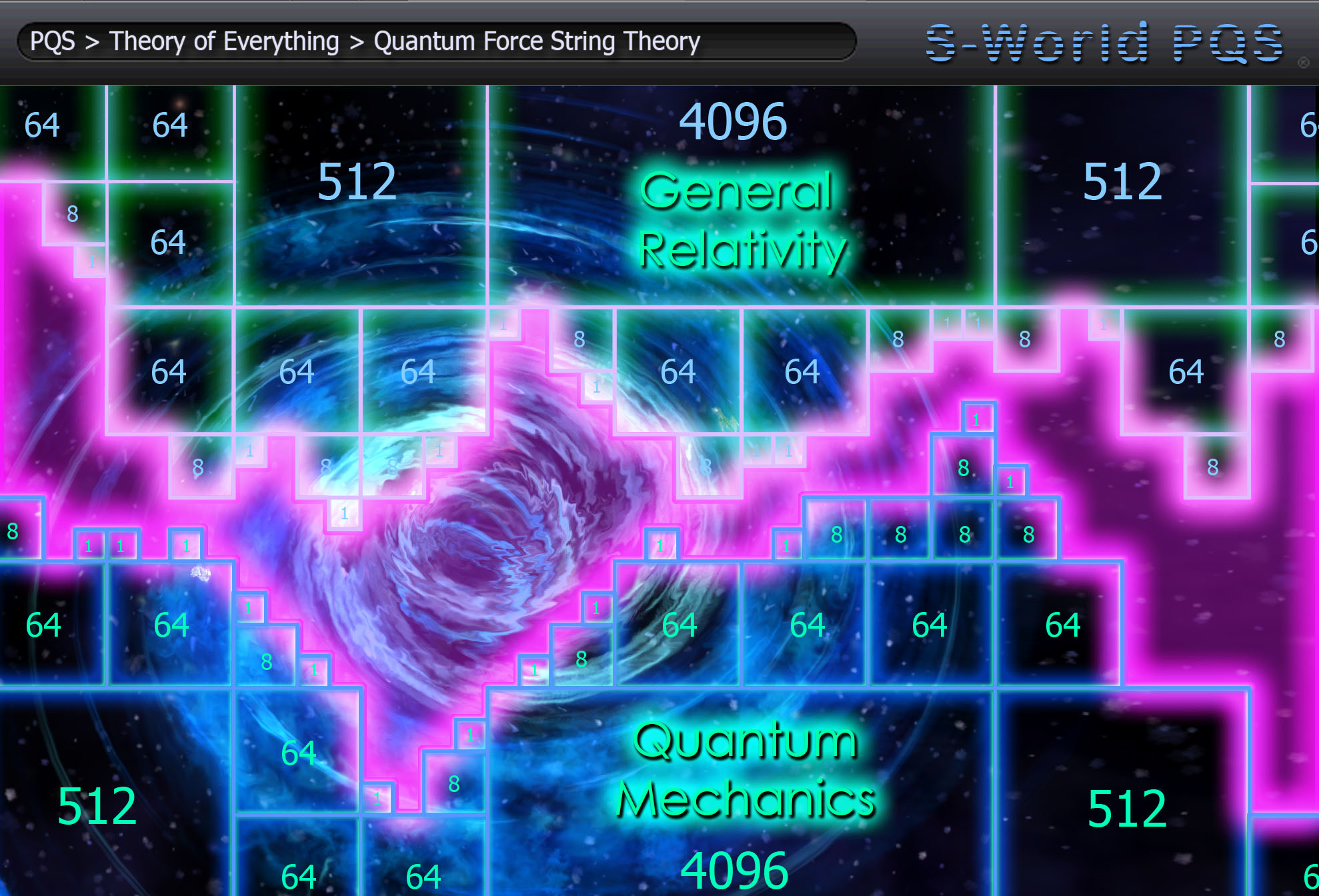 pqs-quantum-force-string-theory