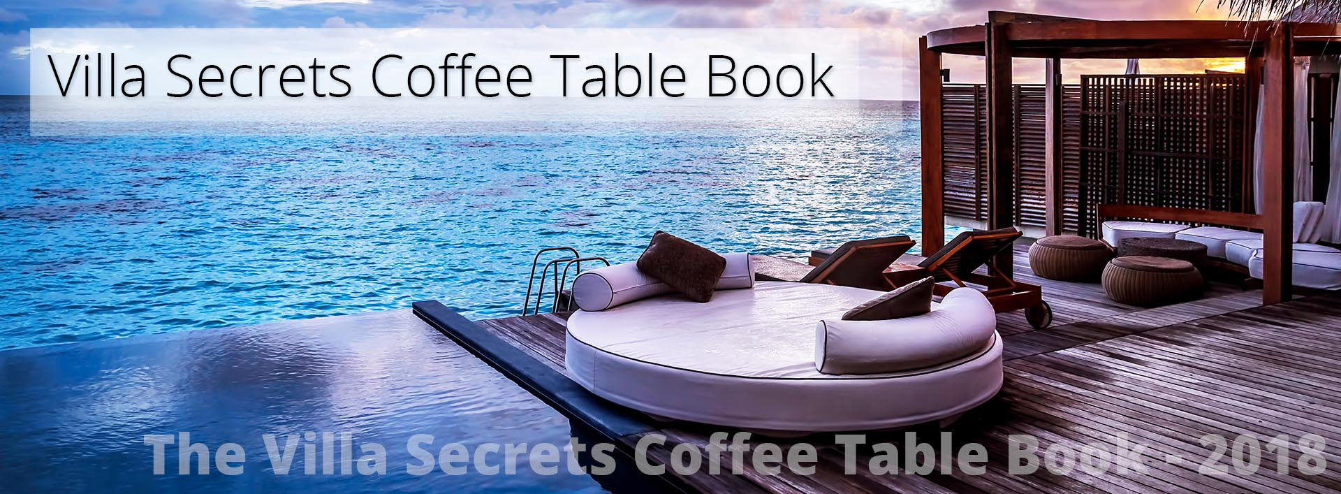 Villa Secrets Coffee Table Book